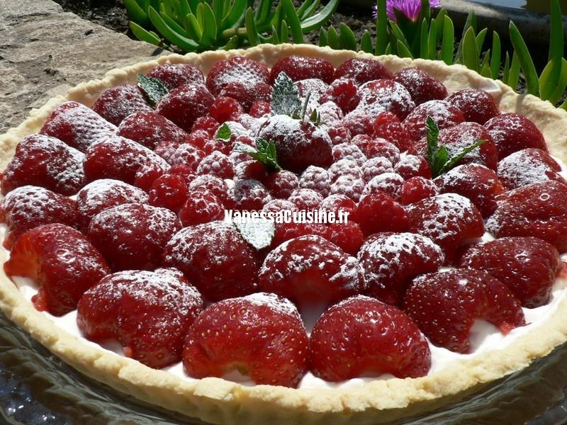 Belle tarte fraise framboise cr me vanill e au mascarpone - Cuisine au mascarpone ...