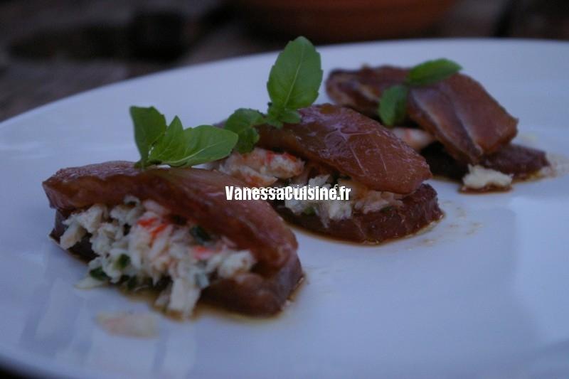 sandwichs de thon cru marin farcis au crabe by w ledeuil vanessa cuisine. Black Bedroom Furniture Sets. Home Design Ideas