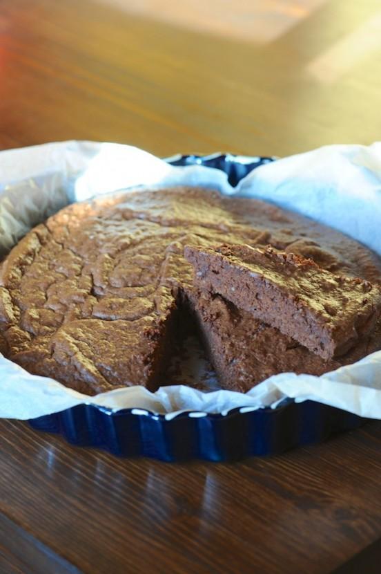 Moelleux au chocolat et aux amandes, sans gluten, ni caséine de lait