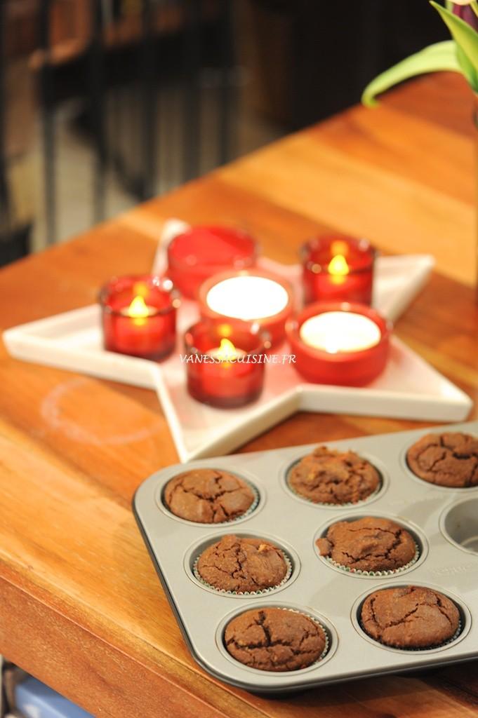 Muffins à la pralinoise (sans gluten) - Praline flavored muffins (gluten free) - Vanessa Romano - photographe et styliste culinaire