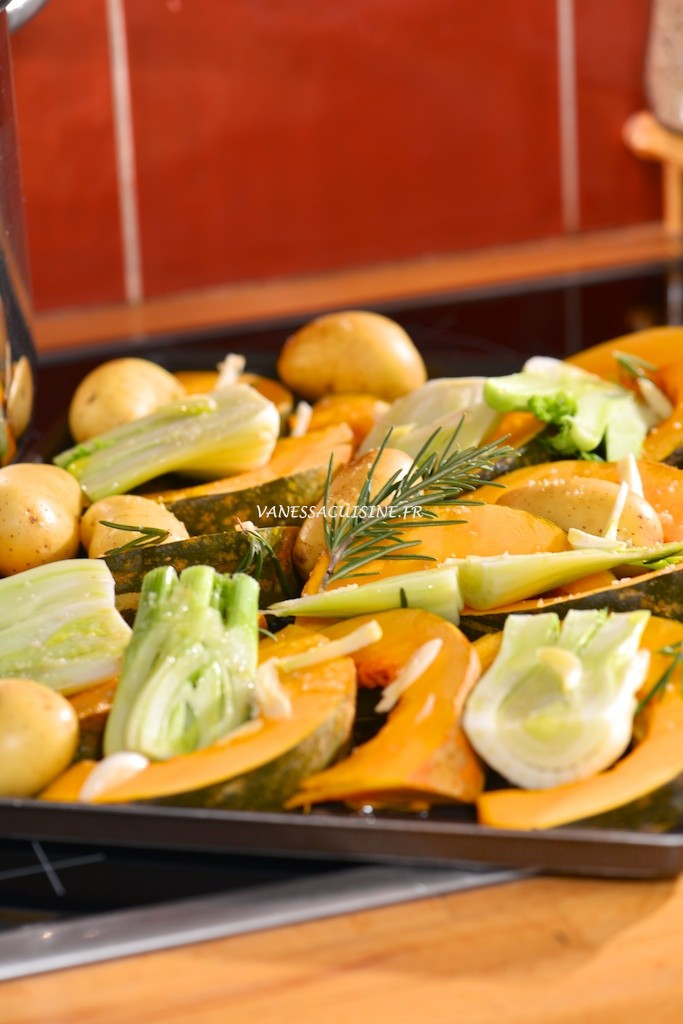 Légumes d'hiver rôtis au four au romarin et à l'ail - Roasted winter vegetable with rosmary and garlic - Vanessa Romano photographe et styliste culinaire
