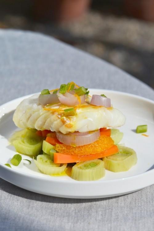 Cabillaud à la vapeur douce, fenouils et oranges - Steamed cod, fennels and oranges - Le Vitaliseur -  Vanessa Romano photographe et styliste culinaire (2)