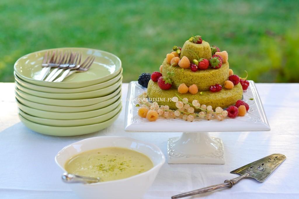 Gateau pistache sans gluten
