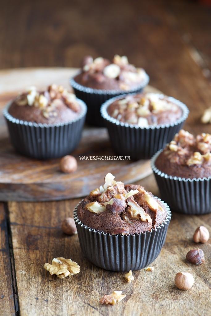 Petits cakes au chocolat et aux noix (sans gluten) - Little cakes with nuts and chocolate (gluten free)  -  Le Vitaliseur -  Vanessa Romano photographe et styliste culinaire