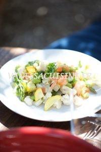 Salade de légumes vapeur, truite fumée du Verdon - Vanessa Romano photographe et styliste culinaire